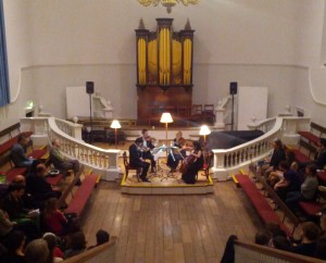 The Cavaleri Quartet perform Reich's Different Trains at the Holywell Music Room, Oxford